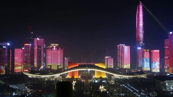 China is positioning Shenzhen as a new economic and investment center that will compete with Hong Kong.   © Reuters