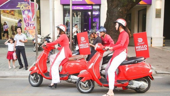 Indonesian ride-hailing operator Go-Jek entered the Vietnamese market in 2018. (Photo by Akira Kodaka)