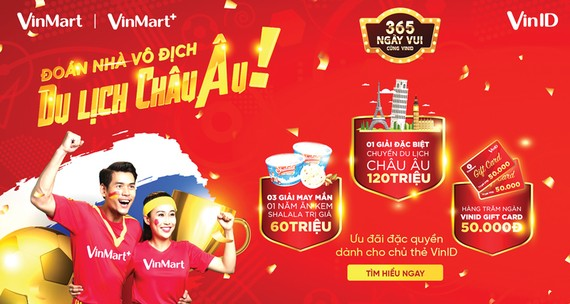 Chuyến du lịch châu Âu 9 ngày trị giá 120 triệu đồng đang chờ chủ thẻ VinID tại VinMart & VinMart+
