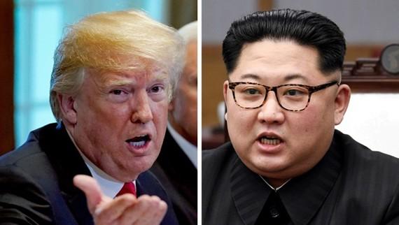 Tổng thống Mỹ và lãnh đạo Triều Tiên. Ảnh: Reuters, KCNA
