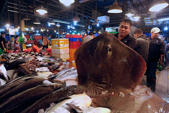 Kinh doanh tại chợ đầu mối nông sản thực phẩm Bình Điền