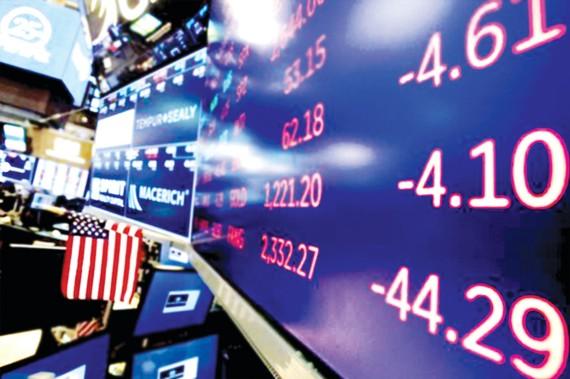 Chứng khoán Mỹ tràn ngập sắc đỏ trong phiên giao dịch  ngày 17-12