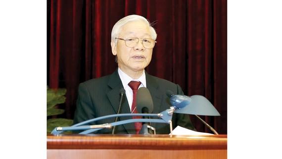 Tổng Bí thư, Chủ tịch nước Nguyễn Phú Trọng phát biểu khai mạc hội nghị       Ảnh: TTXVN
