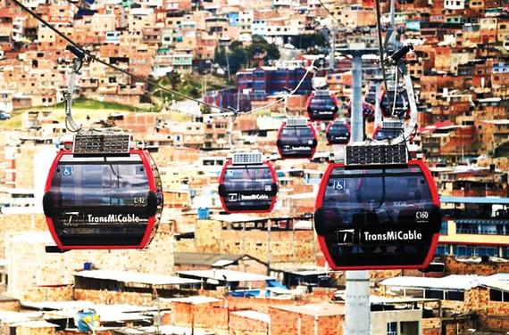 Tuyến cáp treo đầu tiên ở thủ đô Colombia