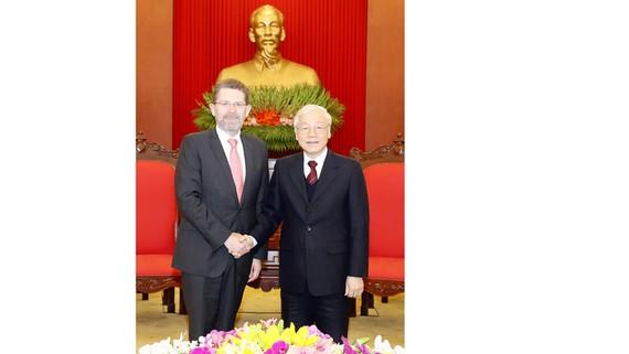 Tổng Bí thư, Chủ tịch nước Nguyễn Phú Trọng tiếp Chủ tịch Thượng viện Australia Scott Ryan
