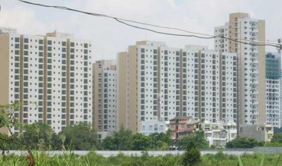 Một khu căn hộ tái định cư ở TPHCM