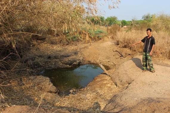 Mùa khô khiến sông hồ tại tỉnh Bình Phước cạn nước