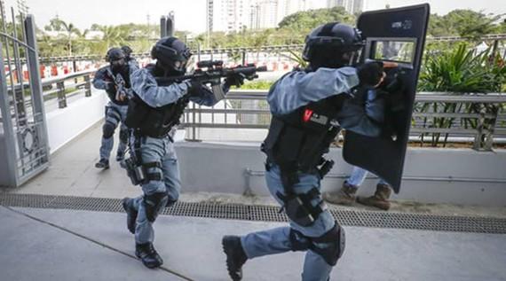 Cảnh sát Malaysia. (Nguồn: The Indian Express)