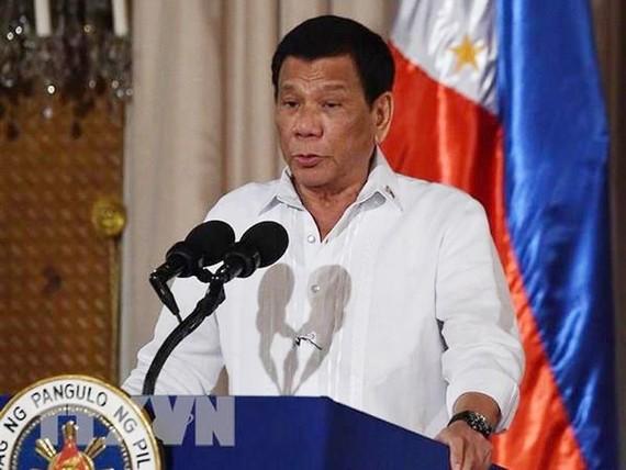 Tổng thống Philippines Rodrigo Duterte. (Ảnh: THX/TTXVN)
