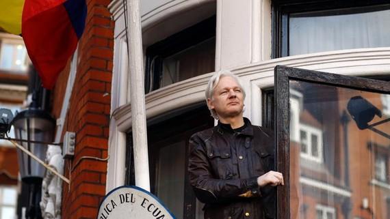 Nhà sáng lập WikiLeaks Julian Assange. (Nguồn: AP)