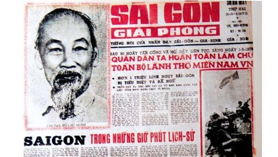 Số đầu tiên Báo Sài Gòn Giải Phóng xuất bản ngày 5-5-1975
