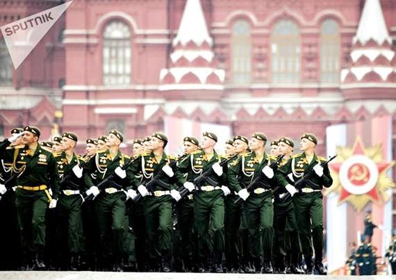 Diễu binh ngày chiến thắng phát xít tại Quảng trường Đỏ, Nga