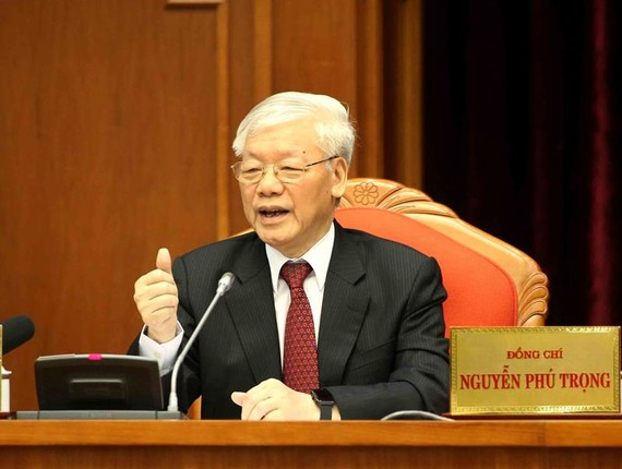 Tổng Bí thư, Chủ tịch nước Nguyễn Phú Trọng phát biểu bế mạc hội nghị      Ảnh: TTXVN