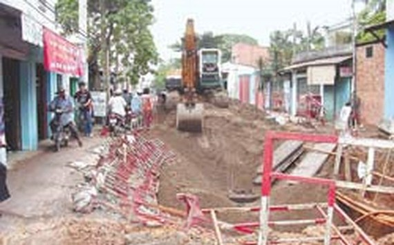 Tạm ngưng đào đường kể từ ngày 8-2