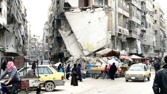 Thành phố Aleppo (Syria) bị chiến tranh tàn phá