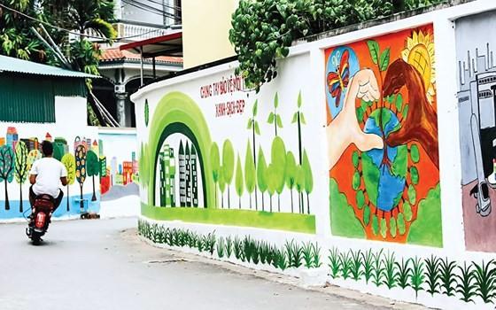 Một góc làng bích họa ở Tam Thanh, Tam Kỳ, Quảng Nam.
