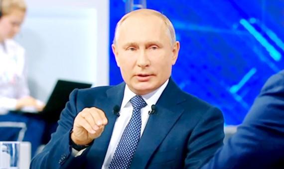 Tổng thống Vladimir Putin trả lời mọi thắc mắc của người dân Nga