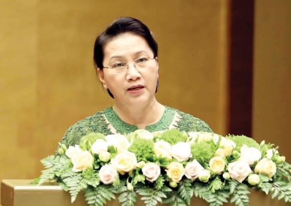 Chủ tịch Quốc hội Nguyễn Thị Kim Ngân phát biểu bế mạc kỳ họp
