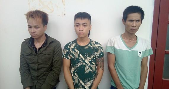 3 đối tượng Trác, Long, Hiên (từ trái qua phải)