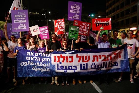 Biểu tình phản đối luật quốc gia dân tộc tại Israel