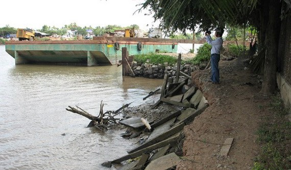 Dự án nâng cấp tuyến kênh Chợ Gạo (giai đoạn 2) được ưu tiên đầu tiên. Ảnh: TTXVN
