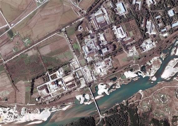 Tổ hợp hạt nhân Yongbyon của Triều Tiên, nằm cách Bình Nhưỡng khoảng 100km về phía bắc. Ảnh: EPA/TTXVN