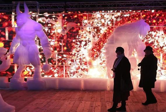 Lễ hội điêu khắc băng ở Bỉ