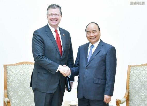 Thủ tướng tiếp Đại sứ Hoa Kỳ. Ảnh: VGP