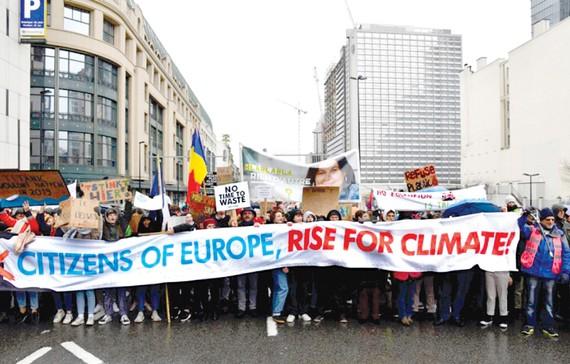 Tuần hành của người dân Bỉ ở thủ đô Brussels