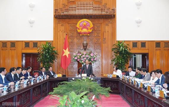 Thủ tướng họp về Đề án thành lập thị xã Sa Pa. Ảnh: VGP/Quang Hiếu