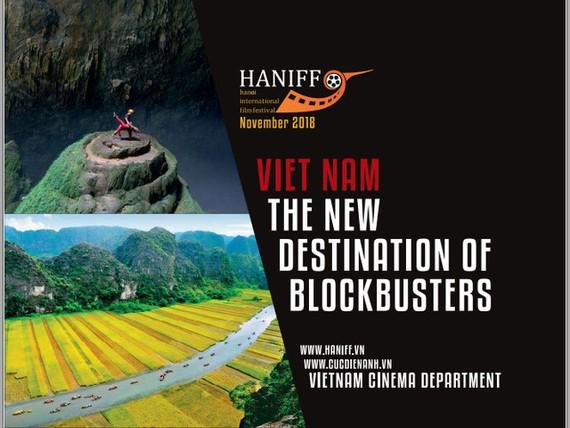 large-sized billboard promoting Vietnamese natural landscapes