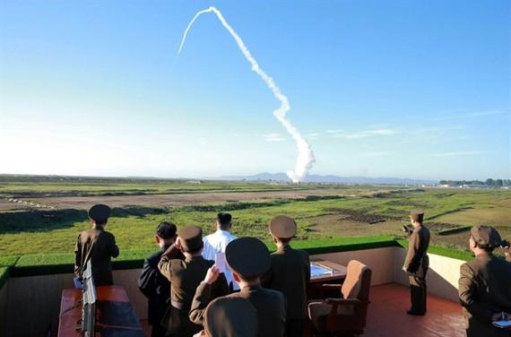North Korea on Monday test-fired a ballistic missile. — AFP/VNA