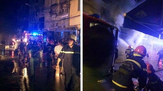 Fire destroys store in district 3, HCMC