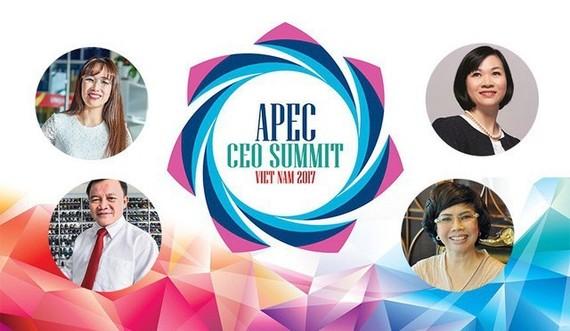 Nguyễn Thị Phương Thảo (left above), Nguyễn Đức Thuận (left below ), Dương Thị Mai Hoa (right above) and Thái Hương (right below) are the four Vietnamese entrepreneurs participating in the APEC CEO Summit held in Đà Nẵng on November 8-10. — Photo cafef.vn