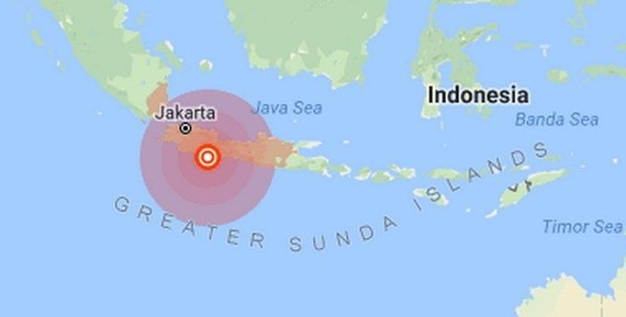 A 6.5-magnitude quake hit Indonesia's West Java province on December 15 (Source: earthquake.usgs.gov)