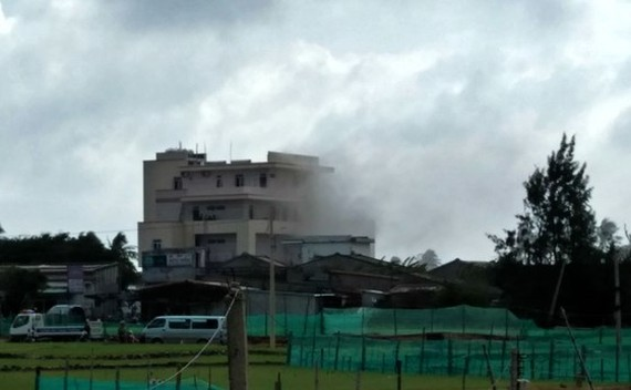 Fire occurs in Ly Son island district's hotel