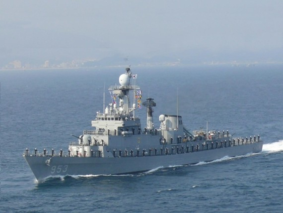 The 1,500-ton Chungnam frigate in a photo provided by the Navy (Yonhap)