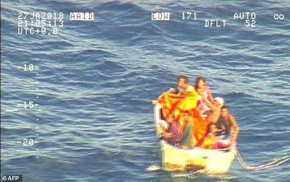 Only seven people found been alive so far from the MV Butiraoi carrying more than 80 people that was believed to have sunk, and hopes are fading of locating any more. — AFP/VNA Photo