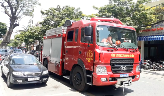 Fire occurs at F.Home Apartment in Danang