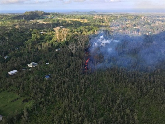 Hundreds of Hawaii residents were urged to take shelters as the volcano erupted. — AFP Photo