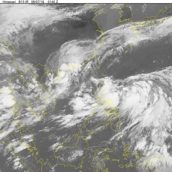 The 2nd storm is forecast to be weaken into tropical low pressure by June 6