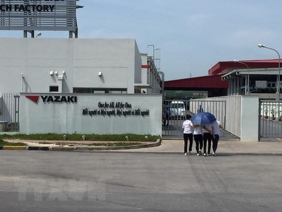 At Japanese invested Yazaki Co.Ltd in Quang Ninh