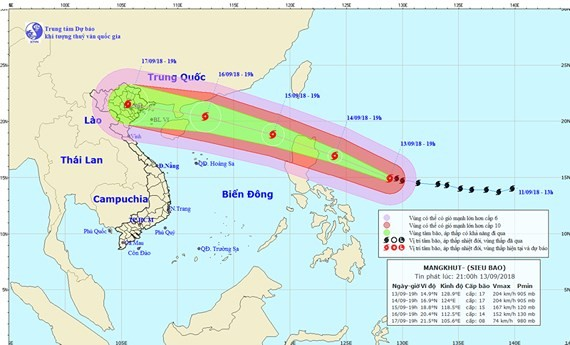 Super typhoon Mangkhut may enter northern