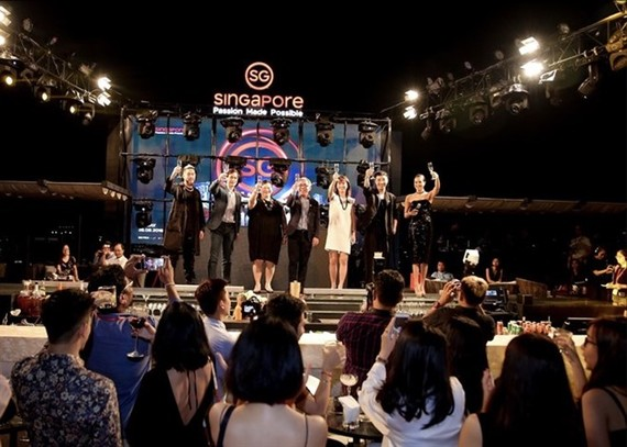 The launch ceremony for the Singapore Tourism Board's new communication campaign called Socialiser Tribe in HCM City late last week (Source: VNA)