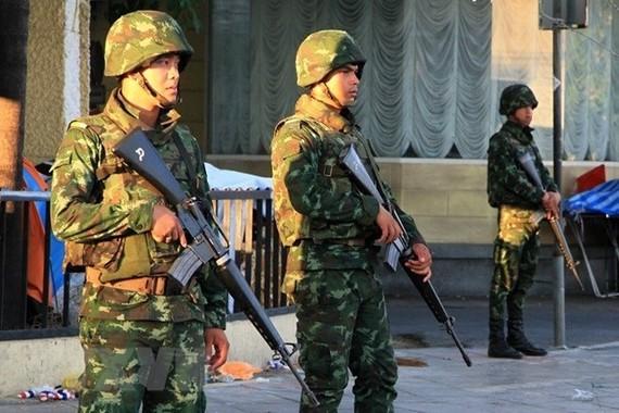 Thai soldiers in Bangkok. (Photo: Xinhua/VNA)