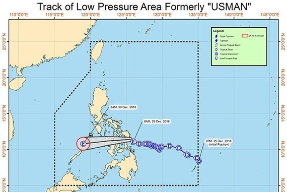Track of low pressure area formerly called Usman (Photo: philstar.com)