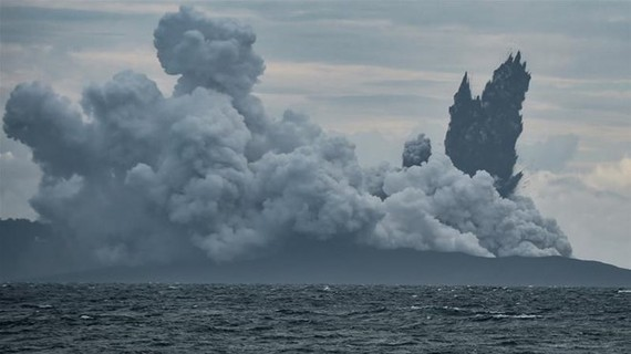 Indonesian volcano Anak Krakatau loses two-thirds of height