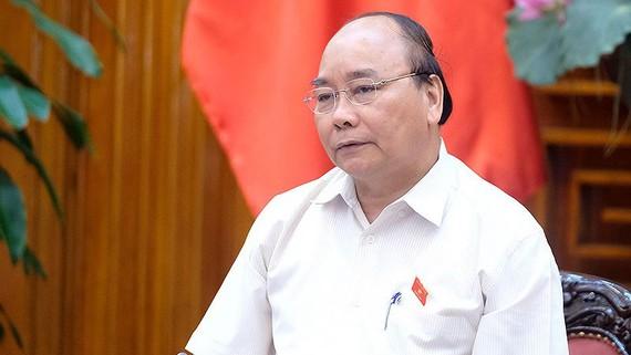 Thủ tướng Nguyễn Xuân Phúc làm việc với lãnh đạo chủ chốt tỉnh Bình Thuận. Ảnh: CHINHPHU.VN