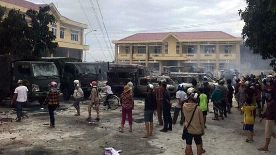 Nhiều người quá khích tham gia vào các vụ gây rối tại Bình Thuận gây mất an ninh trật tự