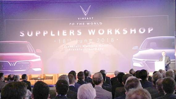 VinFast đã tổ chức thành công hội thảo với hơn 300 nhà cung cấp quốc tế tại Frankfurt, Đức